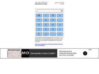 Facile d'utilisation cette calculette en ligne