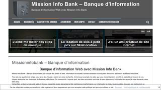 Blog Banque d'information Web avec Mission Info Bank