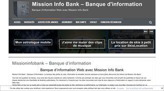Blog Banque d'information Web avec Mission Info Bank